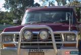 Classic 1980 FORD F100 4X4 V8 LIFT OF CAMPER INCLUDES BOAT AND OUTBOARD.  for Sale