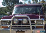 1980 FORD F100 4X4 V8 LIFT OF CAMPER INCLUDES BOAT AND OUTBOARD.  for Sale