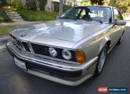 1989 BMW 6-Series for Sale
