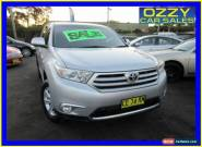 2012 Toyota Kluger GSU45R MY11 Upgrade KX-R (4x4) 5 Seat Silver Automatic 5sp A for Sale