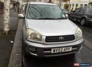 2002 TOYOTA RAV4 GX VVTI SILVER for Sale