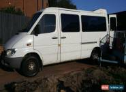 mercedes sprinter diesel 2002 white 5 seats automatic for Sale