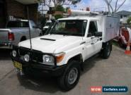 2010 Toyota Landcruiser VDJ79R 09 Upgrade Workmate (4x4) White Manual 5sp M for Sale