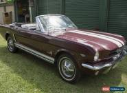 1965 Mustang Convertible 289 V8 Manual for Sale