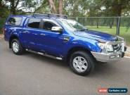 """2012 FORD RANGER 3.2 AUTO XLT-HI RIDER 4X2  DUAL CAB UTE...61 900 km""""s...1 OWNER for Sale"""