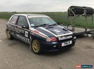 Renault clio mk1 williams rep, 172 engine conversion, racecar trackday  for Sale