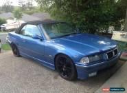1998 BMW E36 328i CONVERTIBLE - M Sport Individual Estoril Blue **URGENT SALE** for Sale