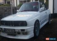 1992 BMW E30 M3 3.5 M30 Turbo Convertible Replica Project White for Sale