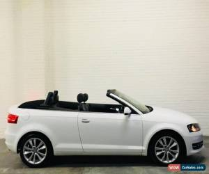 Classic Audi A3 Sport Final Edition Cabriolet Convertible 1.6 TDi Diesel White 2013 for Sale