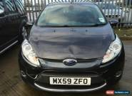L@@K 2009 FORD FIESTA TITANIUM 68 1.4 TDCI GREY.SPARES OR REPAIR.NON RUNNER. for Sale