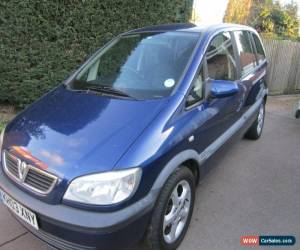 Classic 2003 VAUXHALL ZAFIRA ACTIVE 16V BLUE for Sale