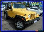 2004 Jeep Wrangler TJ Sport (4x4) Yellow Manual 5sp M Softtop for Sale
