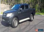 BLACK 2008 TOYOTA HILUX DUEL CAB V6 MAN PROJECT NEEDS ENGINE DAMAGED  for Sale