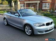 2011 BMW 120i Sport Convertible 2.0 petrol 170 bhp black leather seats 1 series for Sale
