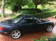 Mazda MX5 1999 NB Manual Twilight Blue Pearl Matching Hardtop for Sale