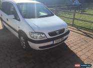 2001 VAUXHALL ZAFIRA 16V WHITE for Sale