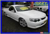Classic 2004 Ford Falcon BA MkII XR6 White Manual 5sp M Utility for Sale