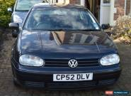 2003 VOLKSWAGEN GOLF GT TDI 130bhp Black Very good condition for age for Sale