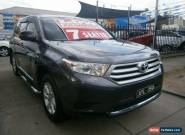 2012 Toyota Kluger GSU40R MY11 Upgrade KX-R (FWD) 7 Seat Charcoal Grey 5sp A for Sale