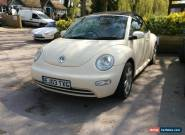 vw beetle cabriolet cream or white with cream leather interior 2003 2 litre for Sale