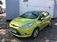 Ford Fiesta 1.25  2009MY Zetec Squeeze green Stunning 1 Owner  for Sale