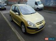 2001 PEUGEOT 307 GLX HDI YELLOW SPARES OR REPAIR  for Sale