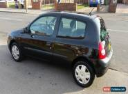 2002 RENAULT CLIO EXPRESSION 16V BLACK for Sale