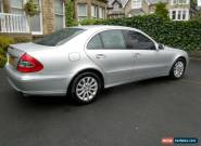 07 57 MERCEDES E280 CDI-IRIDIUM SILVER-BLK LEATHER-1 OWNER FROM NEW-103,000 MLS for Sale