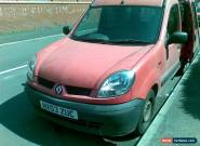 2003 RENAULT KANGOO AUTHENTIQUE DCI 80 RED for Sale