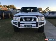 2012 Nissan Patrol Y61  GU 8 ST White Manual M Wagon for Sale
