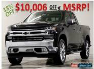 2019 Chevrolet Silverado 1500 MSRP$55255 LTZ 4X4 GPS Leather Black Double 4WD for Sale