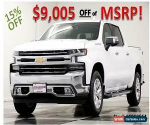 Classic 2019 Chevrolet Silverado 1500 MSRP$60475 LTZ 4X4 Sunroof Leather GPS White Crew for Sale