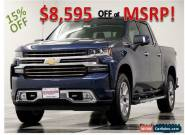 2019 Chevrolet Silverado 1500 MSRP$59240 4X4 High Country Sunroof GPS Blue Crew for Sale