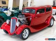 1934 Ford Tudor Burgundy Automatic A Sedan for Sale