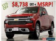2019 Chevrolet Silverado 1500 MSRP$59735 4X4 High Country GPS Sunroof Red Crew for Sale