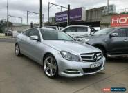 2011 Mercedes-Benz C350 C204 BlueEFFICIENCY Silver Automatic A Coupe for Sale