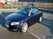 Audi a4 Convertible 3.2 FSI Blue Cabrio Quattro 4WD leather seats Automatic  for Sale
