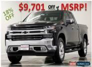 2019 Chevrolet Silverado 1500 MSRP$53670 4X4 LTZ Double Z71 Black V8 4WD for Sale