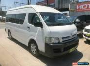 2007 Toyota HiAce TRH223R Commuter White Automatic A Bus for Sale