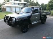 2000 Nissan Patrol GU ST (4x4) Desert Gold Manual 5sp M Coil Cab Chassis for Sale
