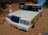 1983 Chrysler Lebaron town and country woody convertible for Sale