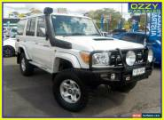 2010 Toyota Landcruiser VDJ76R 09 Upgrade GXL (4x4) White Manual 5sp M Wagon for Sale