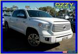 Classic 2015 Toyota Tundra DTS GEN 2 Platinum White 6SPD AUTOMATIC 4X4 Dual Cab Pick-up for Sale