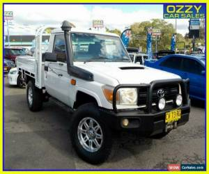 Classic 2008 Toyota Landcruiser VDJ79R Workmate (4x4) French Vanilla Cab Chassis for Sale
