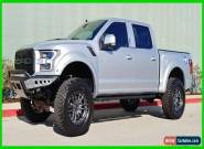 2019 Ford F-150 LIFTED RAPTOR, MATTE SILVER, AIR FORCE TRIBUTE, 1 OF A KIND! for Sale