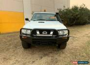 2011 Nissan Patrol GU 6 DX White Manual M Cab Chassis for Sale