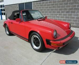 Classic 1986 Porsche 911 Carrera Convertible for Sale