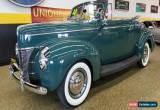 Classic 1940 Ford Deluxe Convertible for Sale