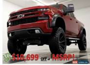 2020 Chevrolet Silverado 1500 MSRP$67010 4X4 10 In Lifted RST Sunroof Red Crew 4 for Sale