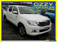 2014 Toyota Hilux GGN15R MY14 SR5 White 5 SP AUTOMATIC Dual Cab Pick-up for Sale